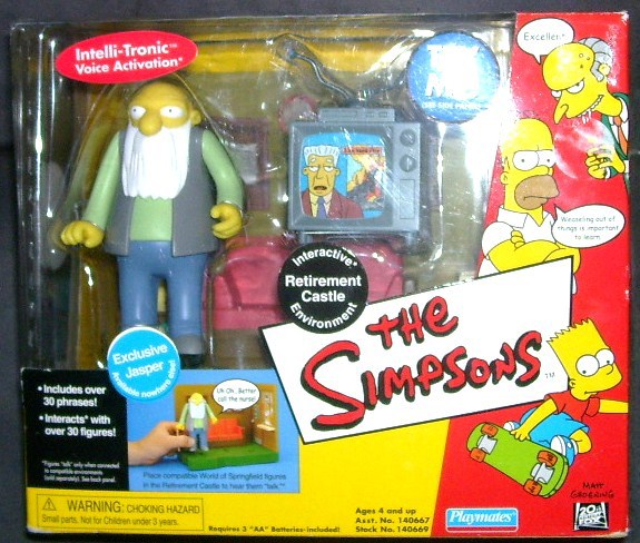 The Simpsons RETIREMENT CASTLE INTERACTIVE PLAYSET NEW!