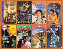8 Lindsay McKenna books: Commando, Protecting His Own, Beneath Shield Wh... - $11.55