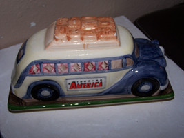 Vintage Dept. 56 Touring America by Bus Covered... - $22.12