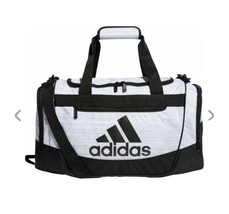 TWO TONE WHITE/BLACK adidas Defender III Small Duffle Bag (D) - $148.49