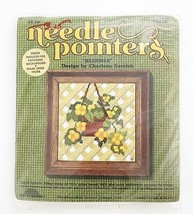 Vintage Sunset Needle Pointers Embroidery Kit - Hanging Begonia Needle C... - $16.57