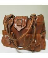 Large Beautiful Brown Satchel Shoulder Messenger Baguette Tote Bag - $32.00