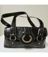 Beautiful Stylish Apt 9 Black Leather Handbag With Silver Tone Hardware - $39.00