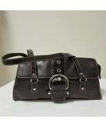 Franco Sarto Double Strap Brown Leather Shoulder Handbag - $26.00