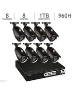 Q-See 8 Channel 960H Real-Time DVR Security System with 1TB HDD and 8 70... - $564.46