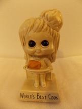 """Russ Berrie Sillisculpt 1973 """"World's Best Cook"""" Figurine  - $13.00"""