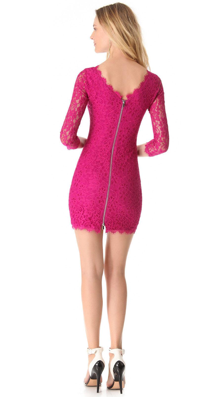 Diane von Furstenberg Zarita Lace Dress in Gardenia size 8