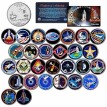 SPACE SHUTTLE COLUMBIA MISSIONS Colorized Florida Quarters U.S. 28 Coin ... - $69.25