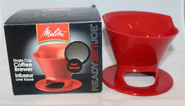 Meritta Plastic Ready Set Joe Single Cup Coffee Brewer Filter Infuser Re... - $23.06
