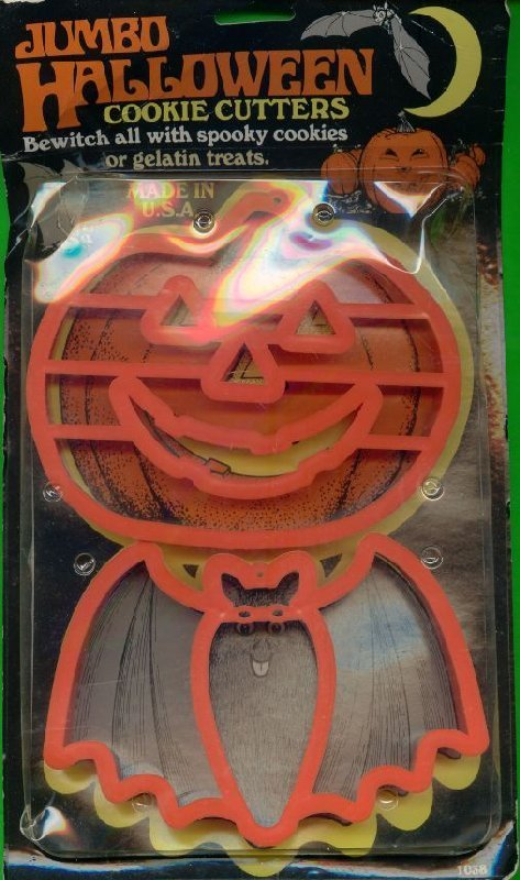 Jumbo Halloween Cookie Cutters Pumpkin and Bat