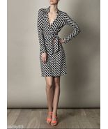 Diane von Furstenberg New Jeanne wrap dress chain link medium 10 - $249.99