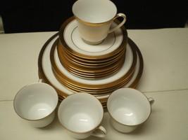 Noritake Crestwood Gold 20 Piece Dinnerware Set~~Service for 4~~excellent - $129.95