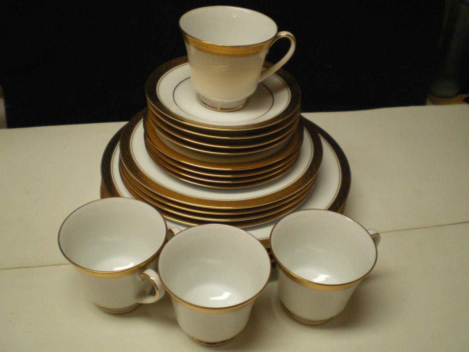 Noritake Crestwood Gold 20 Piece Dinnerware and 30 similar items