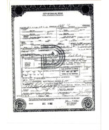 Jack Ruby Death Certificate Reproduction - $4.95