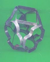 Vintage 6 sided roller Metal Cookie Cutter  - $10.00