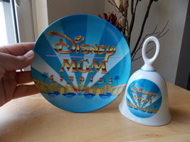 Disney 1987 MGM Studios Plate and Bell Set  - $25.00
