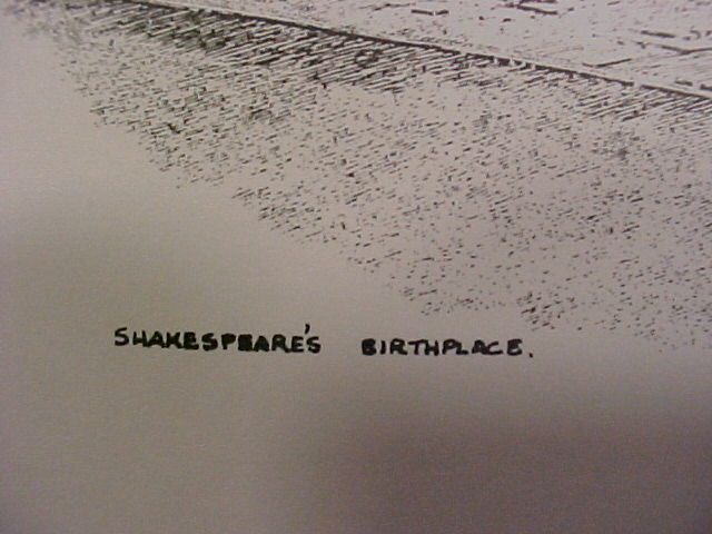 -Anthony John Signed print of Shakespeare's Birthplace