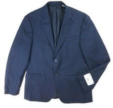 NEW MICHAEL KORS NAVY BLUE CHECKERED 100% WOOL SPORT COAT BLAZER SIZE 38S - $113.05