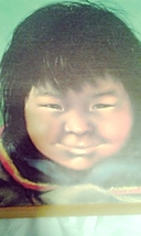 Indian Native American Toddler Wooden Plaque Wall Hanging Silly Smiling Boy - $15.00