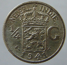 1941 NETHERLANDS INDIES COIN over 70 Years Old Netherlands East Indies W... - $9.99