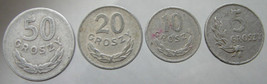 1949 POLAND EAGLE COINS over 60 Years Old Polish 50, 20, 10,  and 5 gros... - $14.99