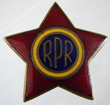 Red Star Badge Rare Romania Army Military Enamel Brooch Pin - $19.99