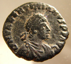 ANCIENT ROMAN COIN Emperor Valentinian 2nd 378 to 383 Ad bronze Aquileia mint Ae - $19.99