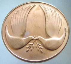U.S.A. PEACE MEDAL United States 1971 Holidays Pax Commemorative Frankli... - $19.99