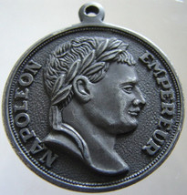 FRENCH NAPOLEON MEDAL France Emperor Napoleon Bonaparte Lion Heraldry Le... - $39.99