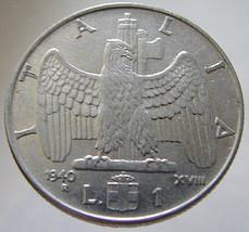 1940 ITALIAN EAGLE COIN over 70 Years Old Italia Kingdom Vittorio Emanuele 3rd 1 - $9.99