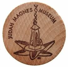JUDAICA 1970 WOODEN TOKEN  Yehud Judah Magnes Museum - $4.99