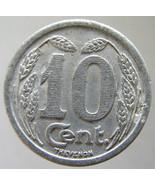 1921 FRANCE COMMERCE TOKEN Chamber of Commerce 10 Centimes jetton Old Fr... - $6.99