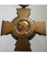1930 FRANCE CROSS MEDAL French decoration of th... - $49.99