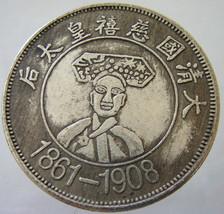 CHINA WOMAN EMPRESS Large Medal 1861-1908 Qing China Ancient China drago... - $39.99