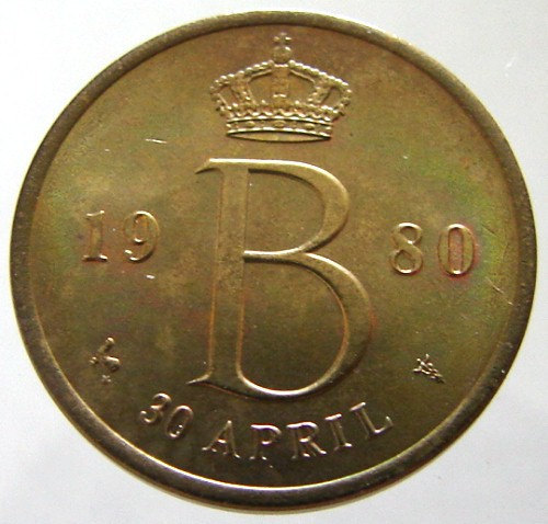 1980 DUTCH ROYAL TOKEN Netherlands Kingdom Queen Beatrix Royal Monogram Dutch Mi