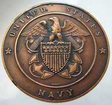 1976 USA NAVY MEDAL United States Bicentennial 1776 1976 Lombardo Mint T... - $14.99