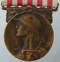 ANTIQUE FRENCH WAR World One 1914-18 Original Commemorative ornate Medal... - $49.99