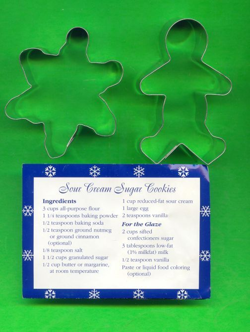 Gingerbreadman Cookie Cutter in box plus recipe