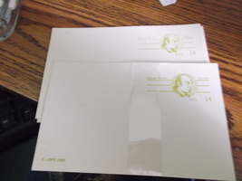 USPS Post Cards 14 cents each-lot of 5 in original wrap plus 4 - $5.75