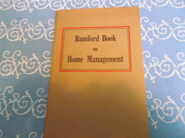Rumford Book on Home Mangement  - $15.00