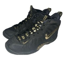 Nike Little Posite Pro GS Black Gold Sneakers - Youth Size 4Y (644792-010) - $36.14