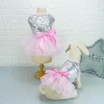 Princess Wedding Dog Dresses  Sequin Shirt Summer Tutu Dress Dog Clothes - $7.00
