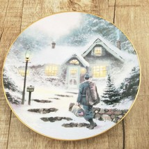 Vtg Thomas Kinkade Home Before Christmas Collector Plate 1991 Knowles Ch... - $11.83