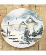 Vtg Thomas Kinkade Home Before Christmas Collector Plate 1991 Knowles China Co. - $11.83