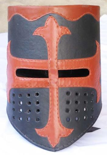 Crusader Knight Templar leather helmet medieval armor ...