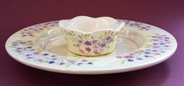 Yankee Candle Company Lilac Pillar Plate Tray and Votive Holder - $18.00