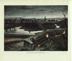Charles E Burchfield. Over the Dam. Vintage American Artists 1940 print. - $26.73