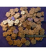 "100 Jewelry tags ""handmade"" 9mm antique bronze plated signature tags cfp074 - $8.01"