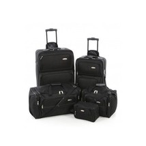SAMSONITE 5 Piece Black Carry On Rolling Luggage Set Duffle Bag Travel Tote Pack - $128.70