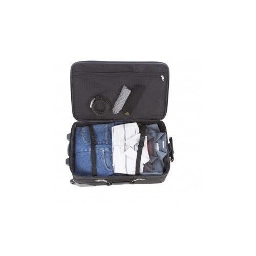 SAMSONITE 5 Piece Black Carry On Rolling Luggage Set Duffle Bag Travel Tote Pack